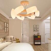 The restaurant Pendant Lights Nordic livable modern minimalist wooden lamp pendant lamp round wood bedr
