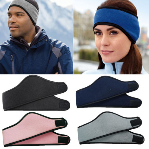 2018 New Winter Outdoor Ear Warmer Head Band Women Men Polar Fleece Ski Ear  Muff Unisex Stretch Spandex Hat 4Colors Hot 0f86096e5829