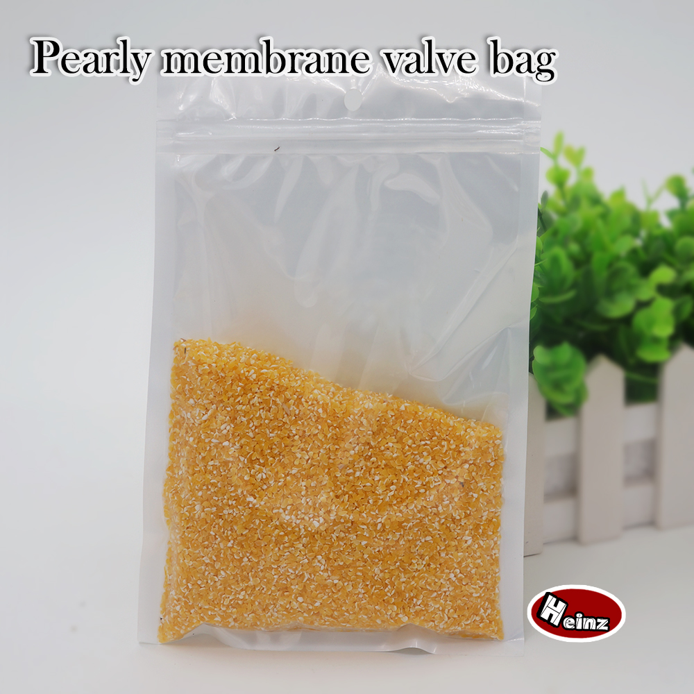 30*40cm Translucent white pearly membrane valve bag /Accessories /Mobile phone shell /Food /Ornaments bags. Spot 100/ package