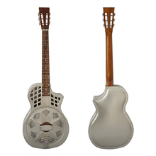 цены Aiersi Brand Vintage Chrome  brass Body Cutway Parlour Resonator Guitar TRG-10CM