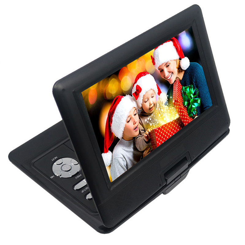 LONPOO 10.1 inch Portable DVD Player TFT LCD Screen Multi media DVD Player With car charger and game function support DVD/CD/MP3 9 portable dvd player w game radio function black