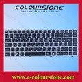 Ef negro con marco de plata teclado del ordenador portátil para dns QAT10 QAT11 p / n : PK130PR1C08 MP-11P16SU-6981