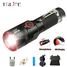 6000 Lumens USB Rechargeable T6 LED Flashlight Torch Lamp Lantern 18650 Power Reminder Waterproof LED Bike Flash Light Aluminum недорого
