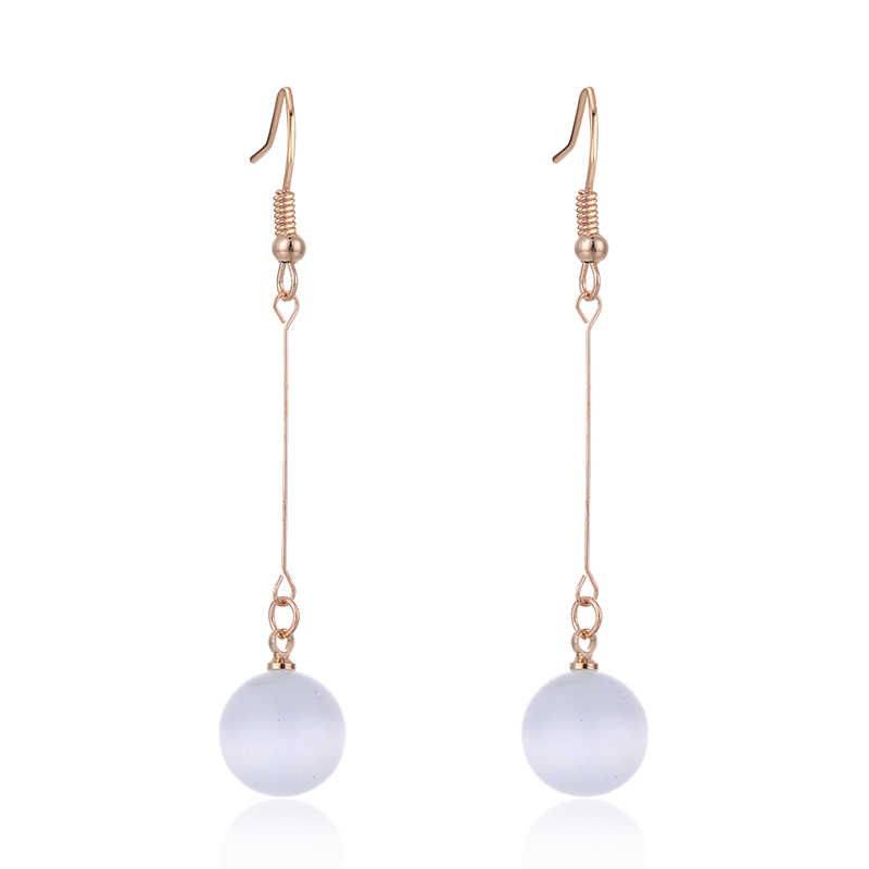 SUKI Sretes de Mujer Hanging Cat Eye Stone Water Drop Bride Earrings Long Jewelry for Fashion Girls Mother Ladies Dangle Earring