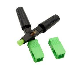 100 pces ftth sc apc único-modo de fibra óptica sc apc conector rápido sc ftth fibra óptica conector rápido sc conector frete grátis
