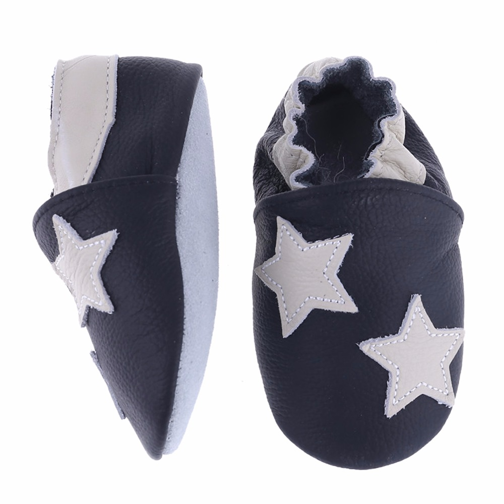 Lovely Star Styles Genuine Leather Baby Boys Soft Shoes Infant Booties Baby Boys First Walker Toddler Shoes