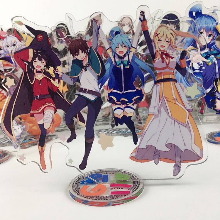 Anime Kono Subarashii Sekai ni Shukufuku wo! Akua Darkness Megumin Acrylic Stand Figure Toy Cosplay Cute Gift