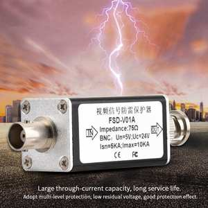 Surge-Protector Lightning-Arrester Thunder BNC 24V Camera Cctv-Video Hot-Sale Analog
