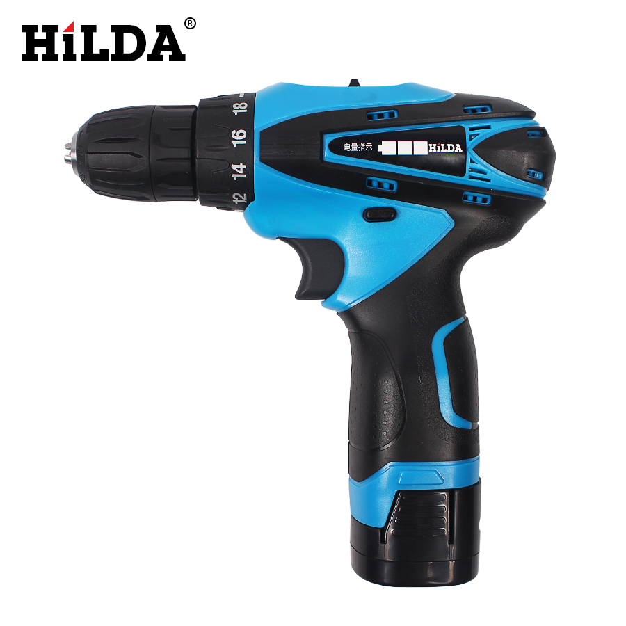 HILDA 16.8V Cordless Screwdriver Electric Drill Two-Speed Rechargeable Lithium Battery Waterproof Hand Multi-function Power Tool newborn baby pants with bear hat set knitted pants newborn photo props baby photography props baby rompers