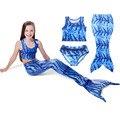 2017 niños del verano muchachas que arropan los niños cosplay cola de sirena traje de baño bikini traje de baño de princesa girl dress
