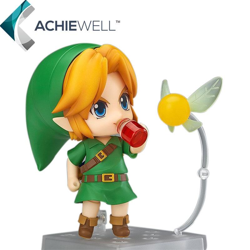 New The Legend of Zelda Link Majora's Mask 3D Ver 10cm PVC Action Figure Anime Cute Model Plastic Toys For Baby Adult Gift Dolls  nendoroid the legend of zelda link majora s mask 3d figure with original box