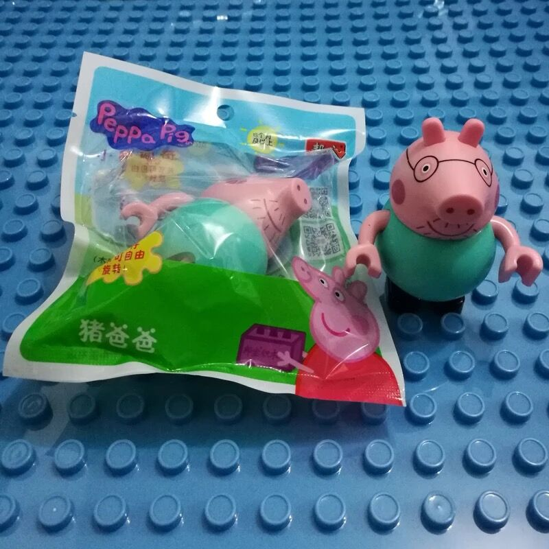 10pcs/set Genuine Peppa Pig - New Arrival toys Friends Rebacc Suzy Emily Danny Figure peppa pig toys Gifts For Kids-Sealed bags