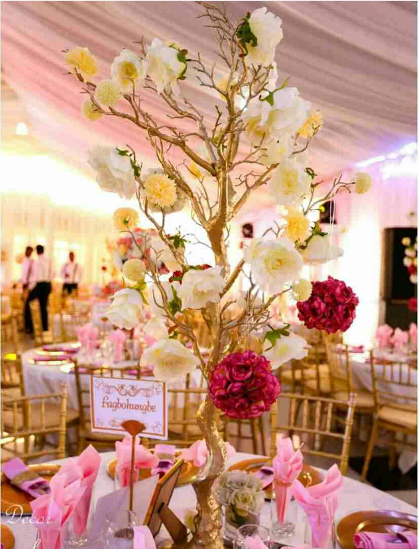 Big Elegant Fashion Large Table Top Plastics Tree Flower Stands Centerpieces  For Weddings(China) Part 44