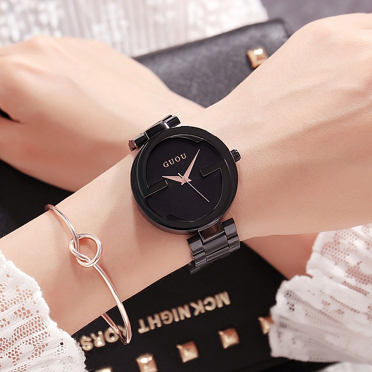 2018 New Fashion Women Watch Lady Luxury Stainless Steel Rose Gold Wristwatch Women Waterproof Quartz Dress Watches & Bracelet 2018 new fashion bracelet watch quartz women lady dress wristwatch horloges vrouwen gift box free ship