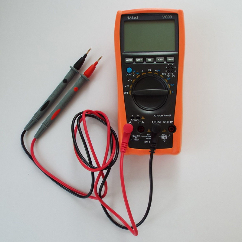 VICI VC99 <font><b>3</b></font> 6/<font><b>7</b></font> <font><b>6000</b></font> Counts Auto Range Resistance Capacitance Temperature Frequency Digital Multimeter image