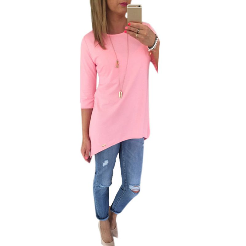 Women Three-quarter Sleeves Long   Blouse     Shirt   Ladies Tops Blusas Beach BOHO Blusas Newest