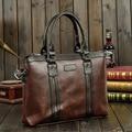 2015 New Men Black Coffee PU Leather Handbags Business Crossbody Big  Shoulder Travel Cusual Computer Laptop Messenger Bags