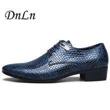 Serpent Motif En Cuir Men'Dress Chaussures, Pour Les Affaires De Mariage Formelle Appartements, De Luxe Style Hommes Chaussures Printemps 2 # D30