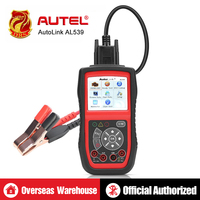 Autel AutoLink AL539 Auto Code Reader OBDII Diagnostic Tool OBD2 Scanner Electrical Voltage Test AVO Meter Battery Tester Tools