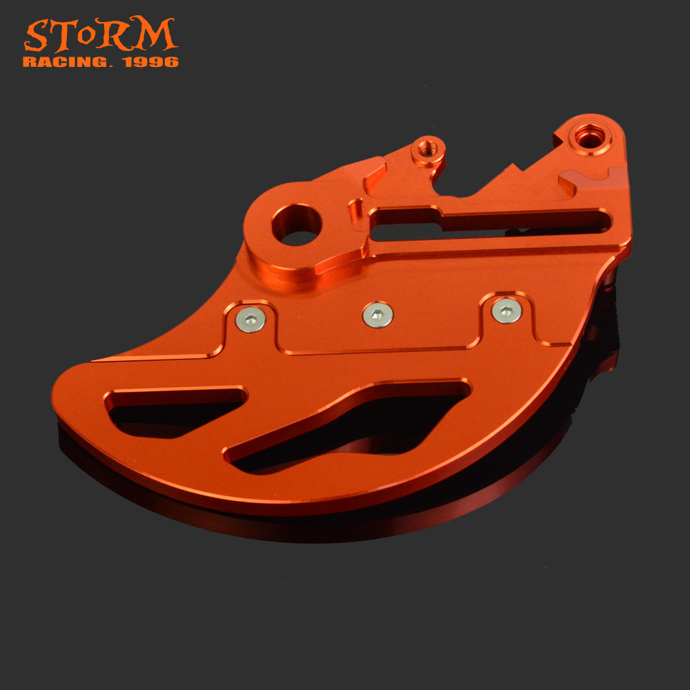 CNC Aluminum Motorcycle Rear Brake Disc Guard Protector For KTM EXC XC XC-F XC-W XCF-W EXC-F SX SX-F SXS SMRR 125-530 billet cnc rear brake disc guard w caliper bracket for ktm 125 450 sx sx f smr xc xc f 2013 2014 2015 2016
