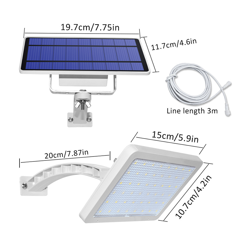 800lm Solar Outdoor Light for with 48 LED With Adjustable Lighting Angle for Garden and Yard Security 1
