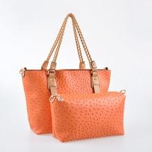 2016 Luxury Designer Shoulder Bags Women Ostrich Leather Handbags Famous Brand Ladies Composite Crossbody Bag Bolsa Feminina