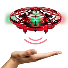 Mini Drones Interactive UFO Flying Ball Toys for Kids and Adults Infrared Sensing Gesture Control RC Drone Helicopter with LED