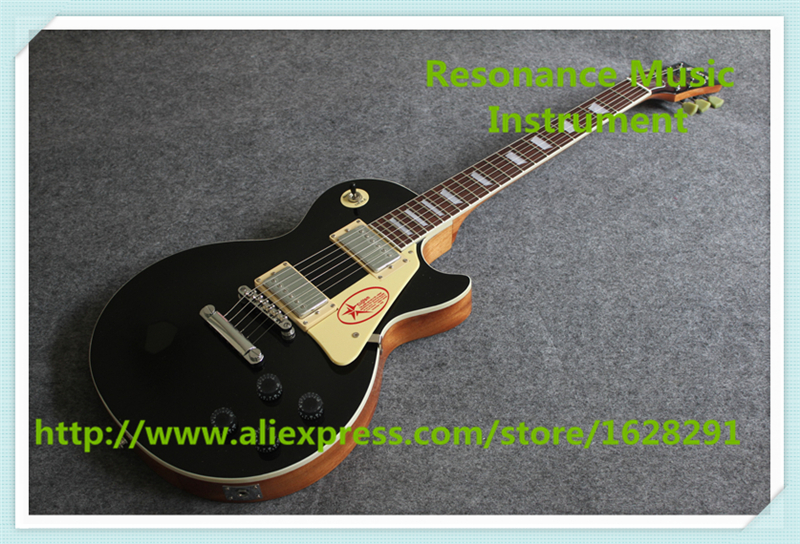 New Arrival Chinese Solid Mahogany Guitar Body LP Standard Electric Guitar With Chrome Hardware In Stock new arrival cnbald lp supreme electric guitar top quality lp guitar in deep brown 110609 page 2
