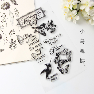 New DIY Photo Album Diary Card Handbag Rubber Piece Finished Seal Kittens Dance Butterfly Transparent Seal new premium promotional yu europe d41x d341x flange rubber seal butterfly valves factory direct quality assurance