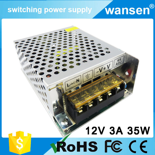 ac 110v/220c to dc power supply 12v 3a smps circuit switching power ...