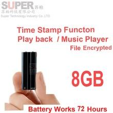 X21 8 GB 3 en un reproductor de mp3 + archivo entryption memoria disco + grabadora de audio batería 22 H w/marca de tiempo de voz activar la voz grabadora