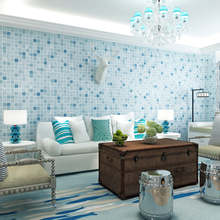 Modern Mediterranean Style Non-woven Wallpaper Mosaic Background Living Room Bedroom Wall Paper Roll Home Decoration