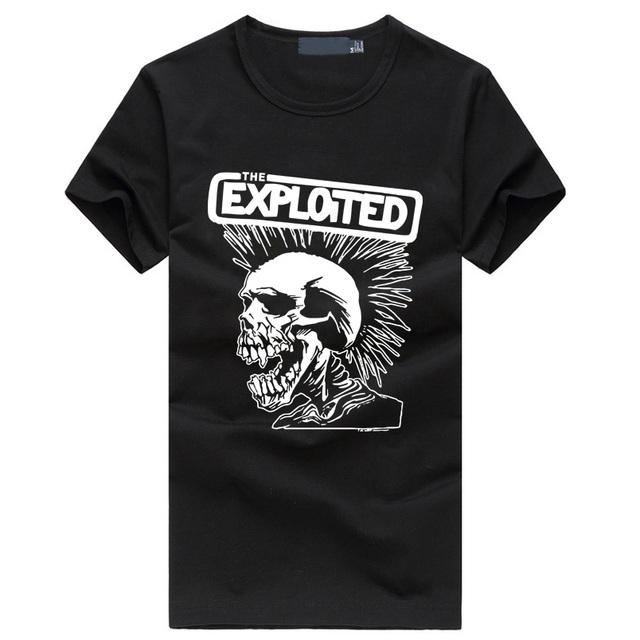 2019 wykorzystane drukuj męskie modne t-shirty śliczne punk czaszka grafika marka koszulka Hip Hop Casual Fitness homme Swag odzież tanie i dobre opinie HAMPSON LANQE Krótki Tees Mężczyźni Punk style Topy COTTON short O-neck Dzianiny