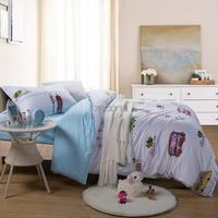 100 Cotton Bedding Set Cartoon Printing Minions Bedclothes Baby Children Kids Bed Linen Twin Size 3PCS