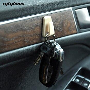 Rylybons 3 piezas Clips de coche Cable USB abrazadera fija para cables Cable de carga Auto coche bolsa gancho soporte mini Coche estuche de gafas para ford