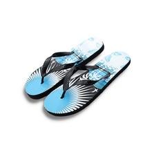 New Summer Men  Flip Flops Printing Coconut Tree EVA Flat with Bathroom Sandals Home Slippers Playa Slides Casual Beach Shoes