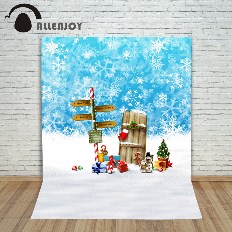 Christmas photography backdrops 5x7ft xmas Snowflake snow gift baby photocall pictures background for photographic studio