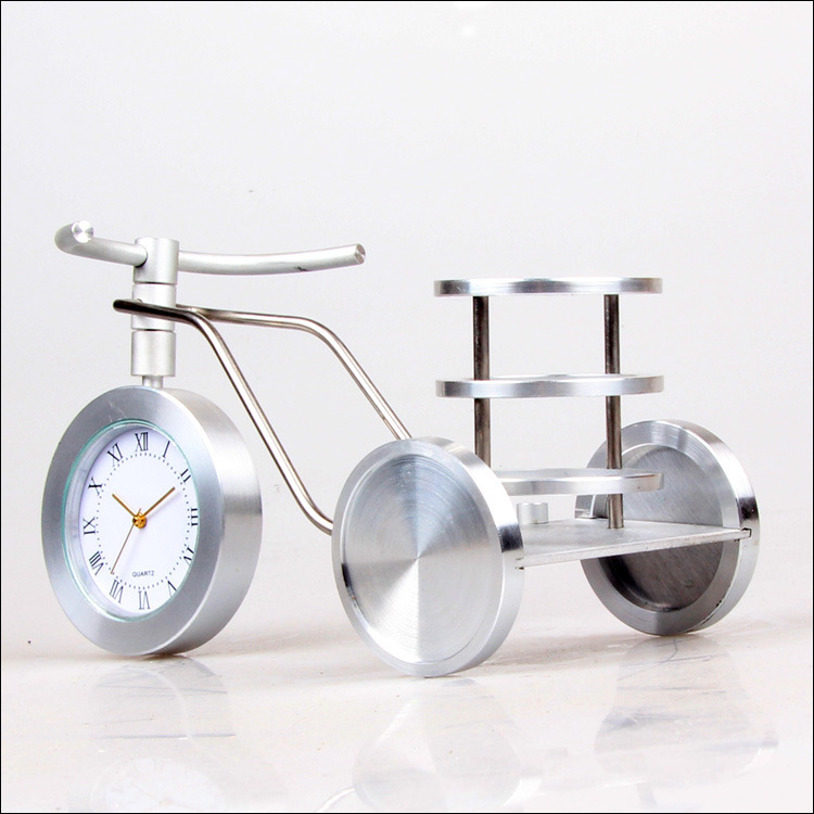 Pedicab minimalist clock home office furnishings decorative wrought iron crafts creative, more than $100,TNT Free Shipping