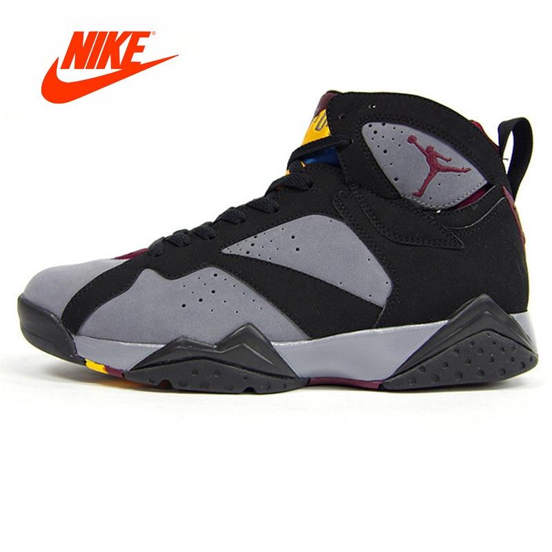 Подробнее Обратная связь Вопросы о Оригинальный Новое поступление  Аутентичные Nike Air Jordan 7 Бордо AJ7 Бордо Для женщин Баскетбольная  обувь кроссовки ... 28a020ab992
