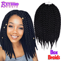 Box Braids Hair Crochet 12'' 18'' Crochet Hair Extensions Synthetic Crochet Braid Senegalese Twist Braid Hair Jumbo Hairstyles