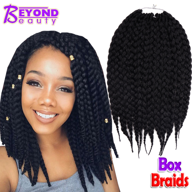 Box Braids Hair Crochet 12 18 Extensions Synthetic Braid
