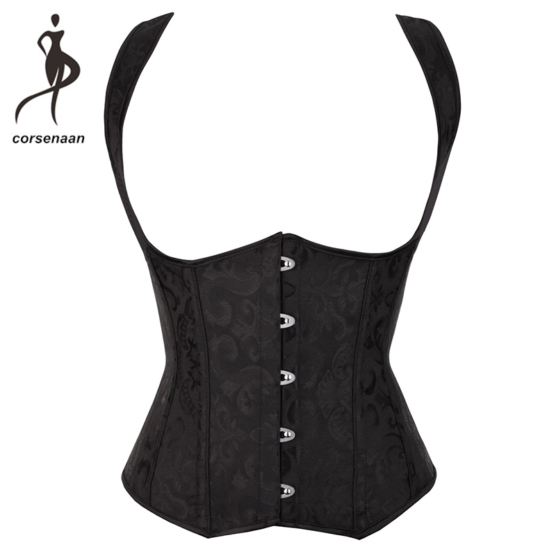 Personality Straps Open Bust   Corset   Underbust Waist Cincher Shaper Women Vest Shapewear With G String 824#