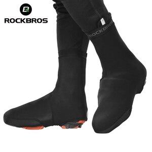 Image 1 - ROCKBRO bisiklet ayakkabı kapağı Copriscarpe Ciclismo su geçirmez termal MTB yol bisiklet spor ayakkabı kapağı galoş sıcak bot kılıfı