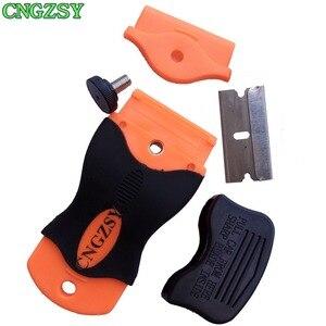 Image 3 - 1pc tela celular remover cola faca + 100 pçs lâminas de metal desmontar limpo raspador polimento pá oca adesivo ferramentas do carro k03
