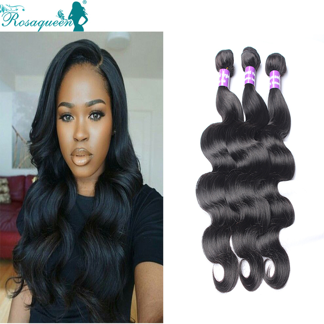 Brazilian Virgin Hair Body Wave 3 Pcs Rosa Queen Hair Brazilian Body Wave Brazilian Hair Weave Bundles Soft Brazilian Body Wave