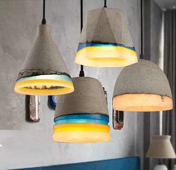 Industrial Loft Style Vintage Resin Cement Droplight LED Pendant Light Fixtures For Dining Room Hanging Lamp Indoor Lighting nordic resin retro loft style industrial lighting vintage pendant lamp fixtures dinning room led hanging light lamparas