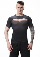 Red Plume Men's Compression T-Shirt , Batman Sports Exercise Fitness T-shirt