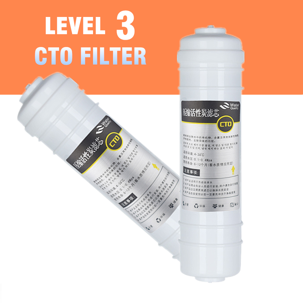 где купить 5 Micron 10'' Quick Connect 10 Inch CTO Activated Solid Carbon Filter Cartridge With 2 Fittings For Water Purifier Pre-filter по лучшей цене