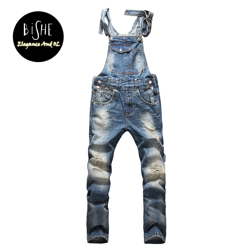 Men's Casual Jeans Hip Hop Designer Jeans Men High Quality Overalls Skinny Jeans Men Pants Male Denim Jumpsuit 2XL 3XL 4XL 5XL 2016 high quality mens jeans blue color printed jeans for men ripped button jeans casual pants quality cotton denim jeans