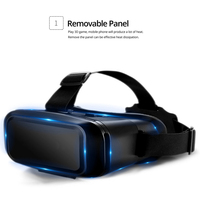 K2 3D VR in 3D Virtual Reality VR Glasses Genuine Leather Eye mask Smart Helmet Stereo Game Cinema Boxs Suitable for Smart Phone